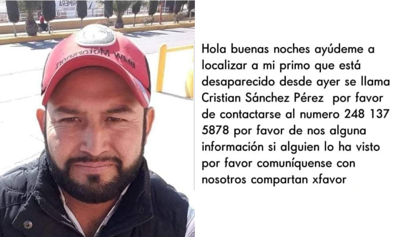 Cristian, de San Salvador El Verde, es buscado por su familia