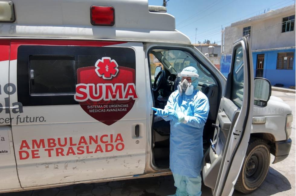 En Tlalancaleca realizaron 107 traslados de pacientes con síntomas de Covid