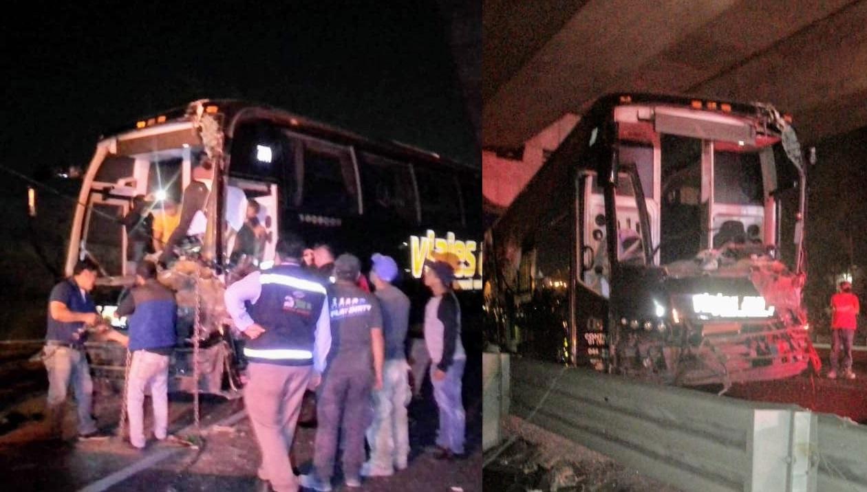 Carambola deja 15 lesionados en la México-Puebla