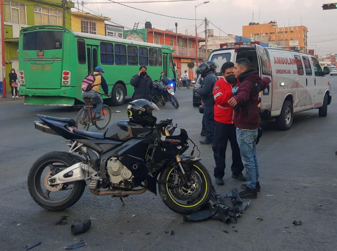 Hasta 6 accidentes de moto a la semana en Texmelucan