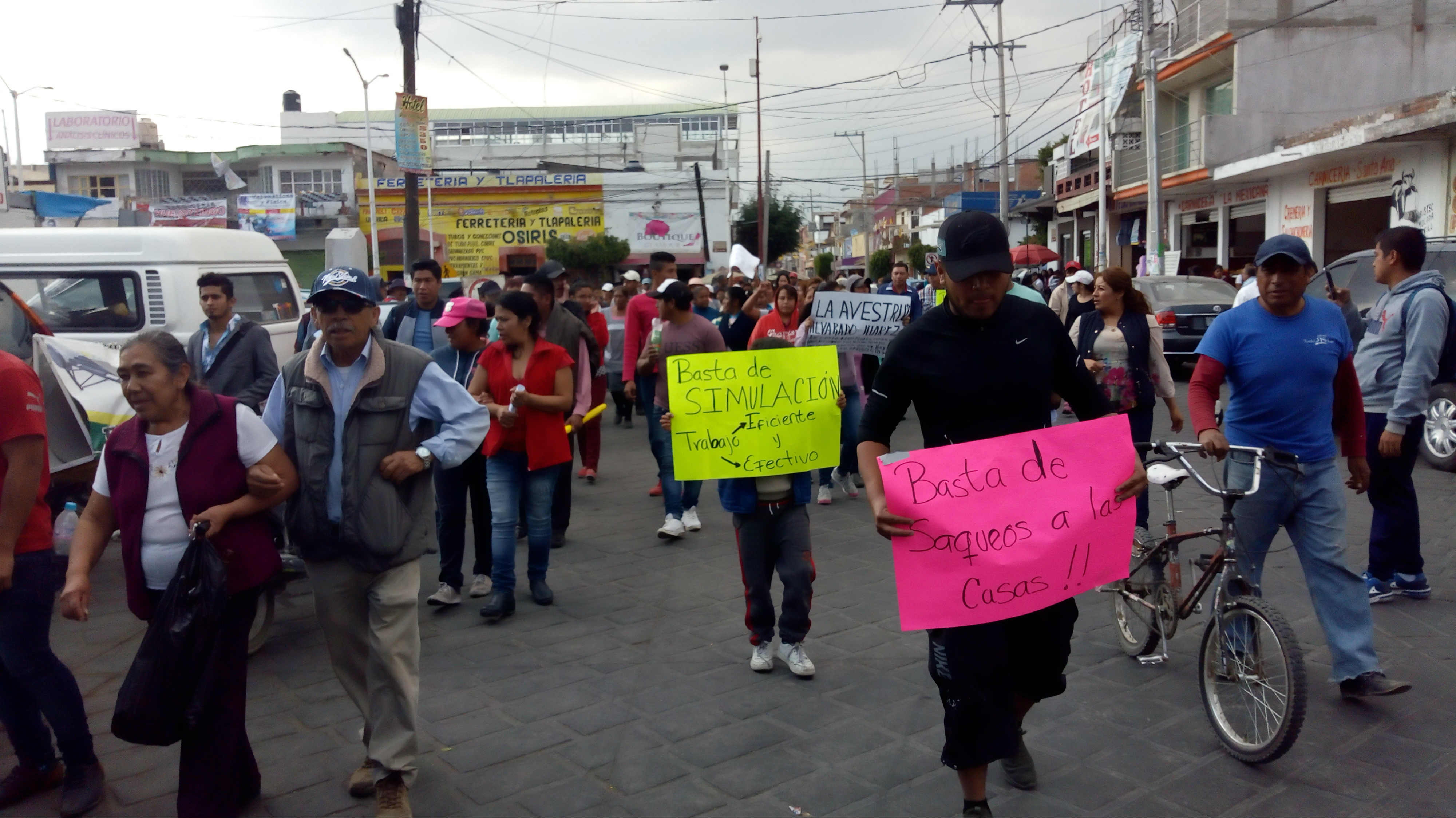 VIDEO: Protestan contra inseguridad y edila de Huejotzingo
