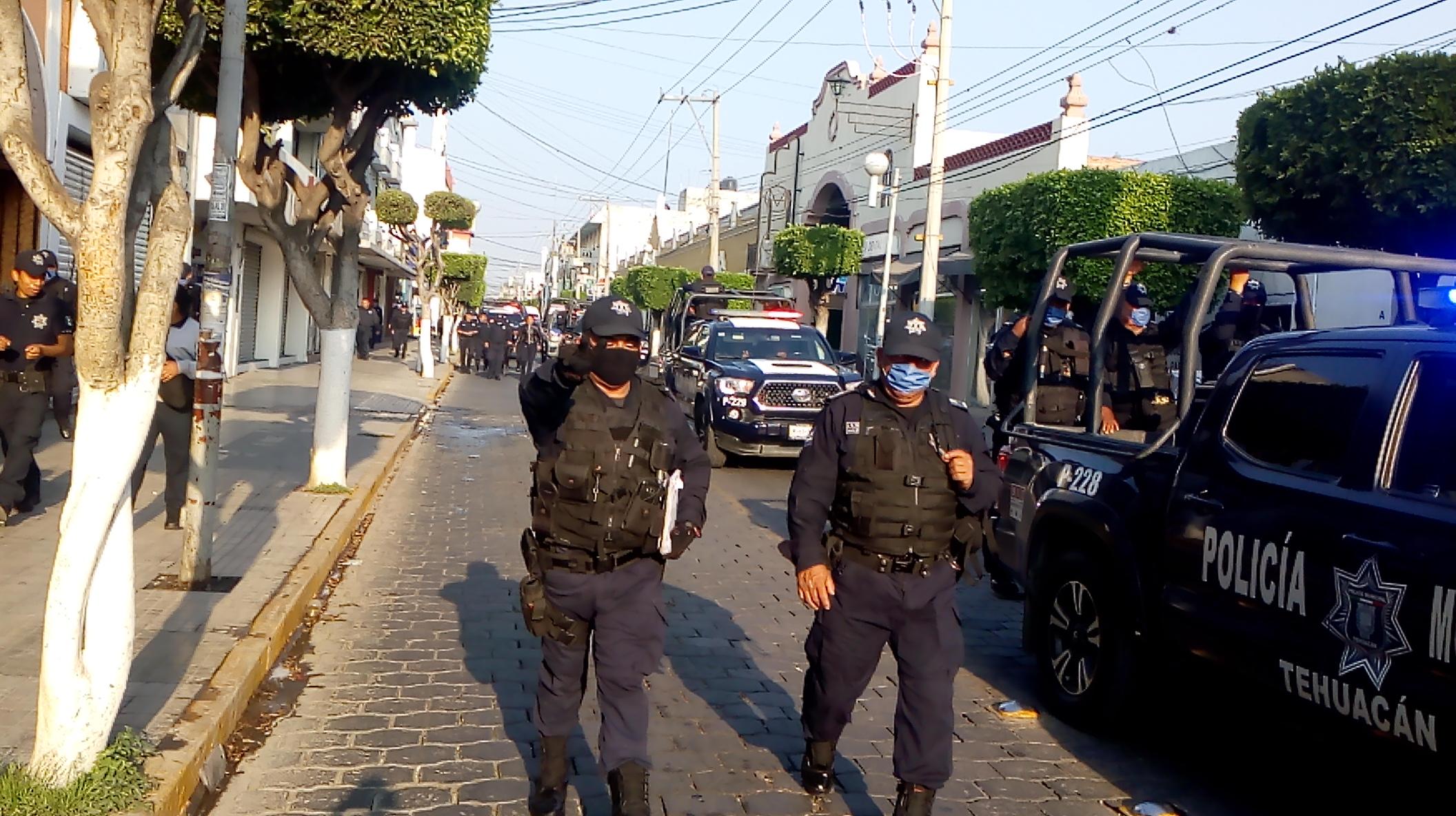 En observación policía municipal de Tehuacán por Covid-19