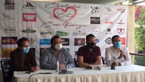 VIDEO Empresarios se organizan y presenten Cholula late con Fuerza
