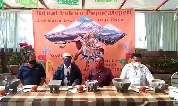 VIDEO En medio de contingencia celebrarán ritual al Popocatépetl