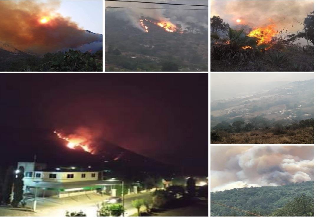 VIDEO Incendio en Tetela ha consumido 400 ha y sigue descontrolado