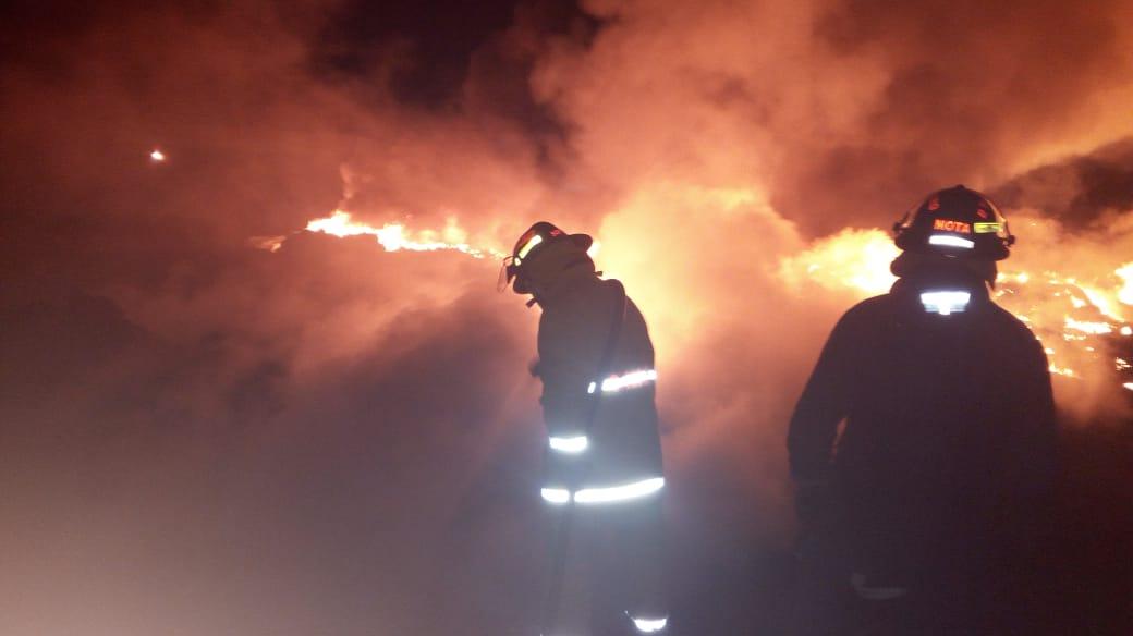 SSP sofocó incendio en San Lorenzo Almecatla