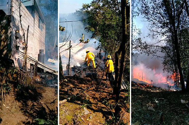 En 48 horas ocurren 4 incendios en Huauchinango