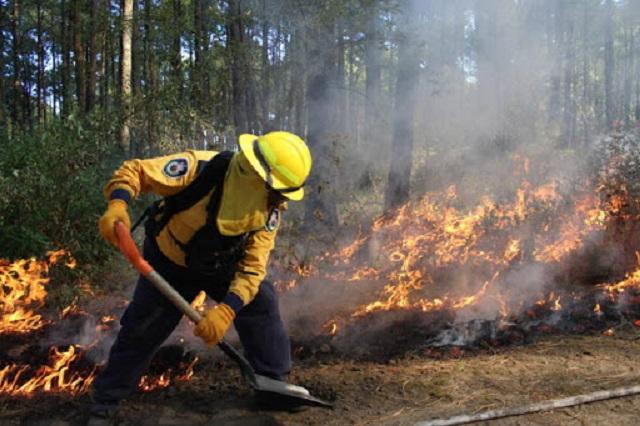 Más de cinco incendios diarios se registran en San Andrés Cholula