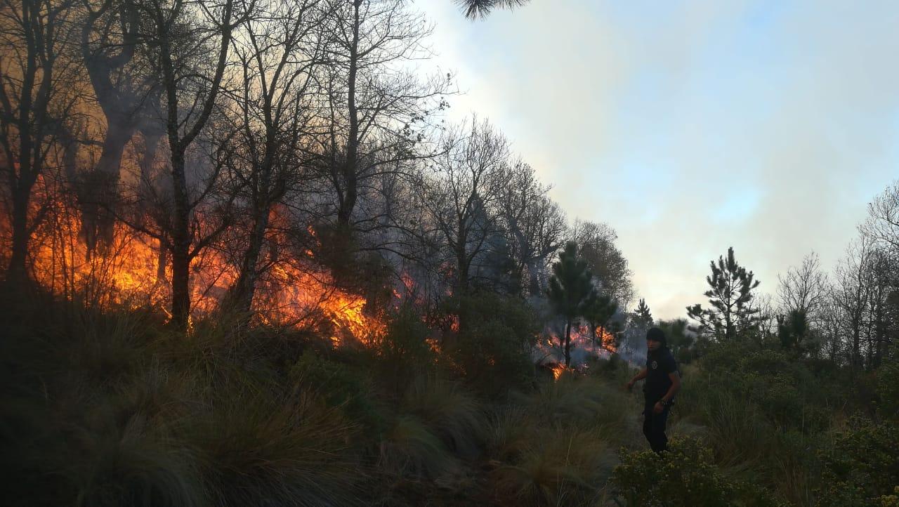 Sin control, incendio en Chignautla