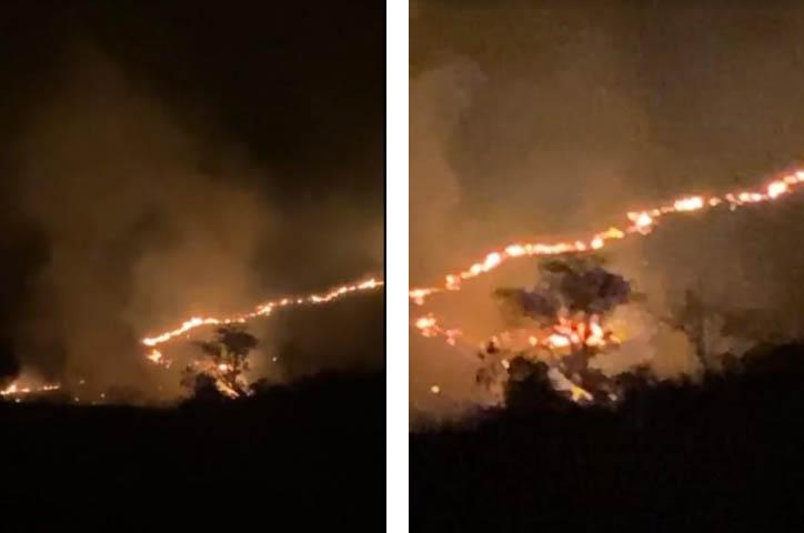 Se incendia cerro en límites de Izúcar y Tepeojuma