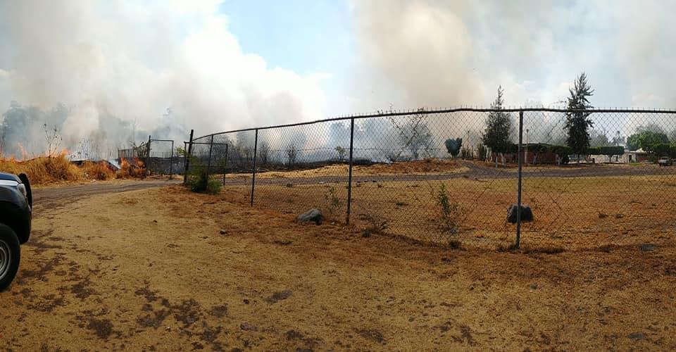 Se registra incendio en instalaciones de Icatep Izúcar
