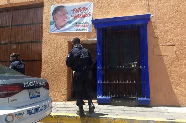 Inconforma presencia de estatales en bunker de Fernando Morales
