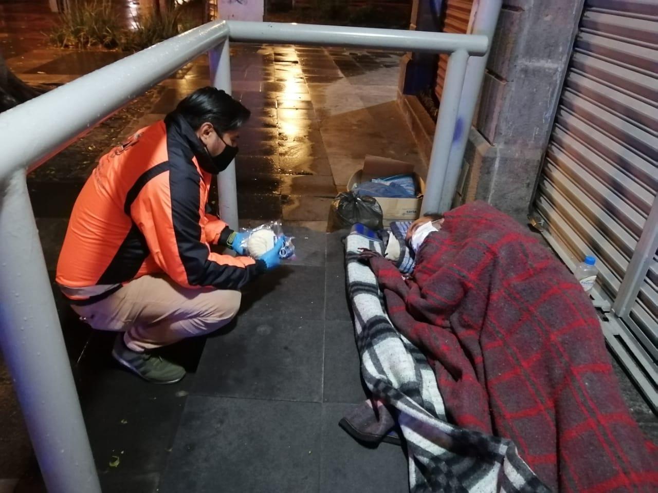 Realizan operativos para mitigar riesgo por bajas temperaturas en Puebla