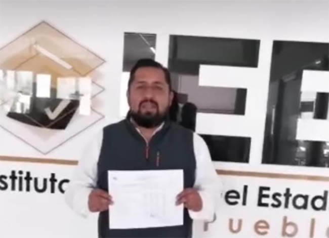 Se formalizar candidatura independiente a la alcaldía de Texmelucan