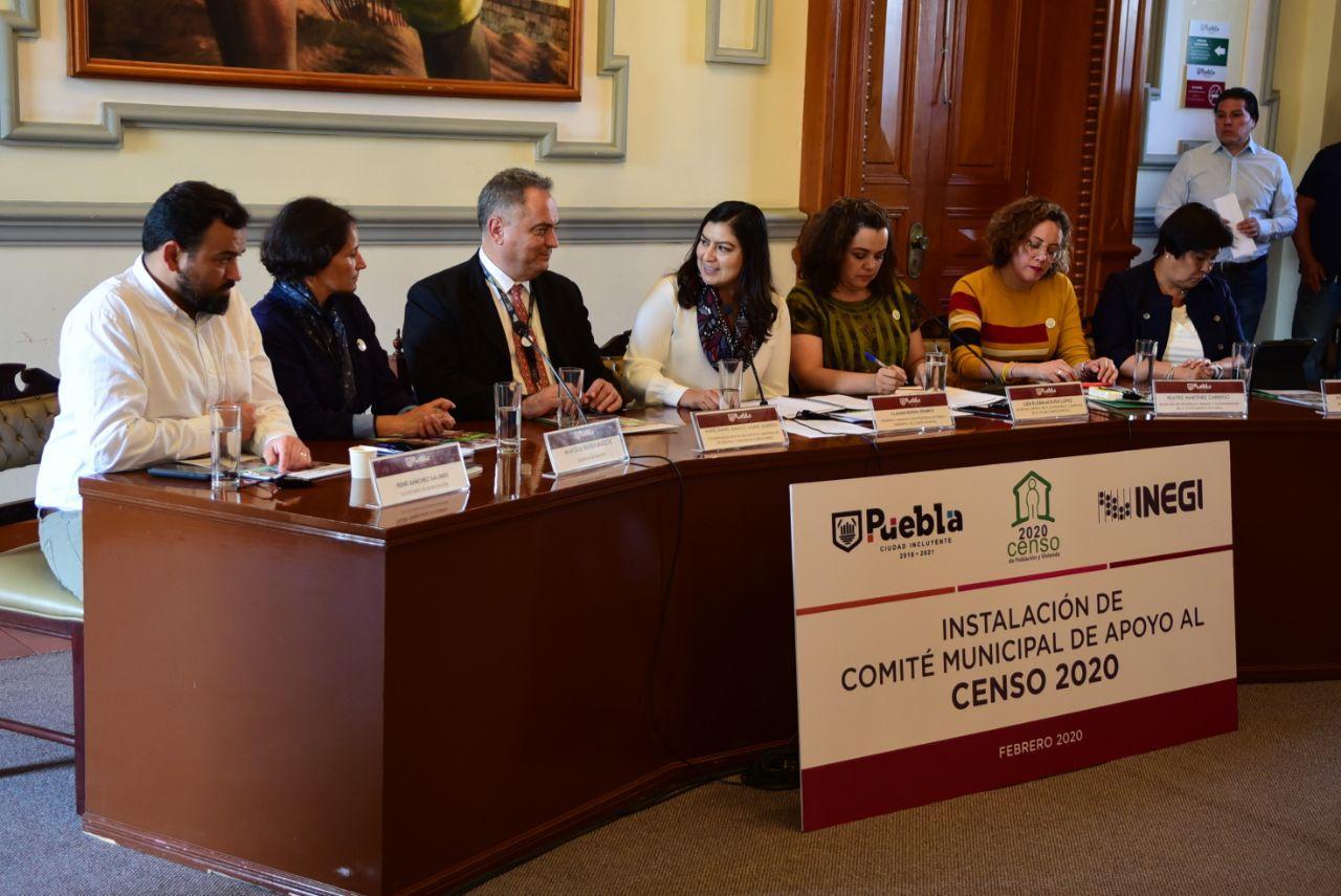 Ayuntamiento de Puebla instauró Comité de Apoyo para el Censo 2020