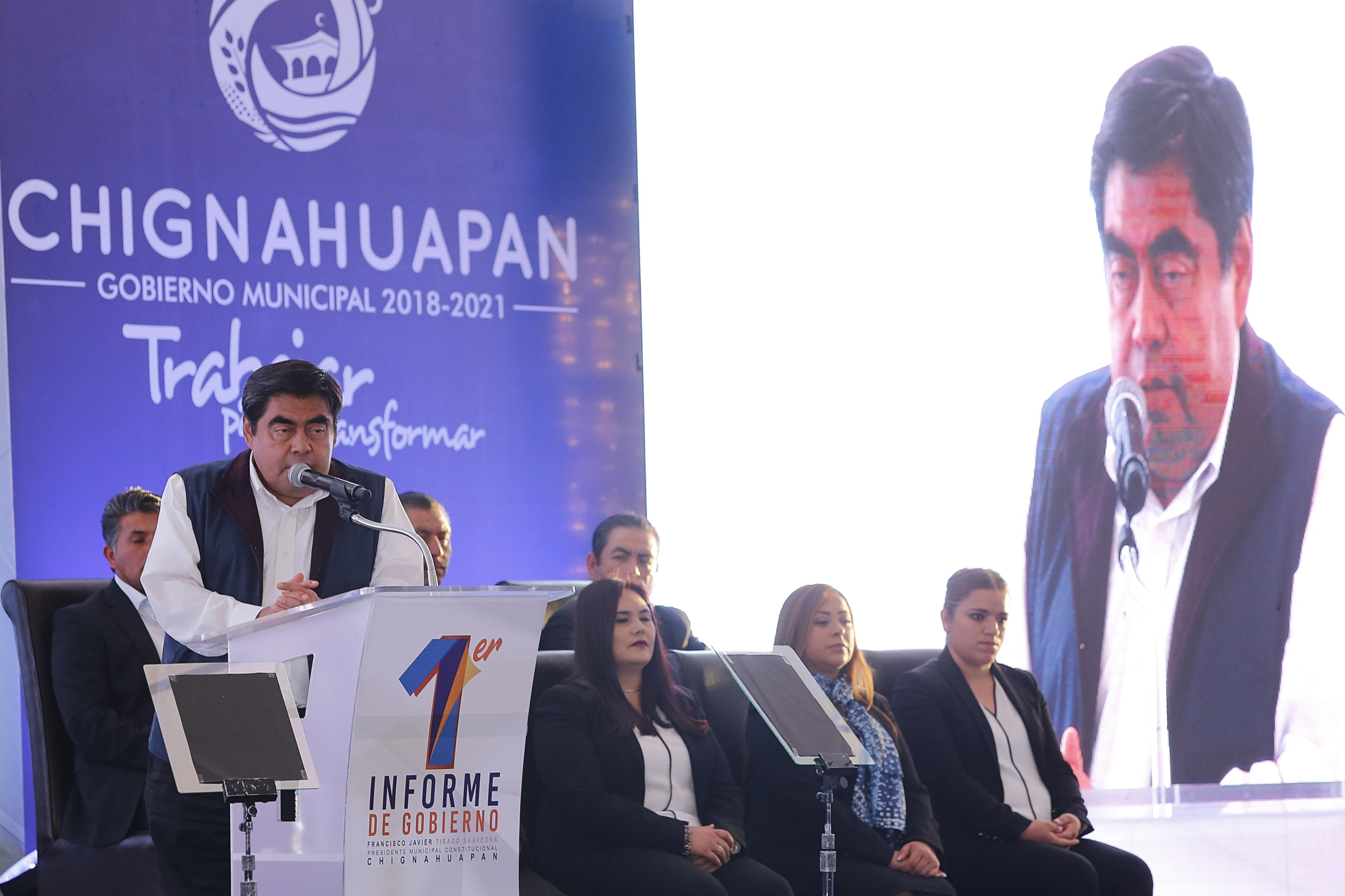 Habrá hospital y campus universitario en las 32 regiones de Puebla: Barbosa