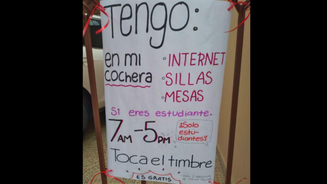 Se hace viral mujer da conexión a internet en su casa a estudiantes