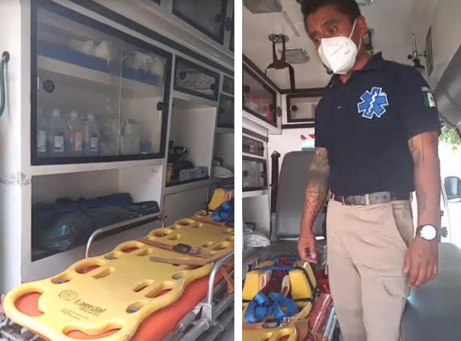 Protección Civil de Izúcar, sin equipo para traslado de pacientes Covid