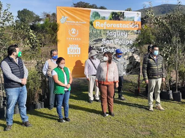 Rehabilitan jagüeyes en Tepeaca para captar 55 millones de litros de agua