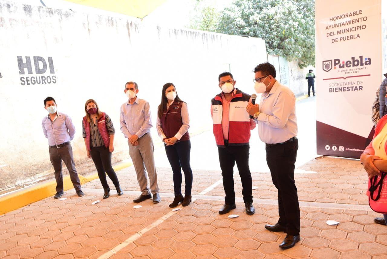 Ayuntamiento de Puebla mejora calles en San Jerónimo Caleras