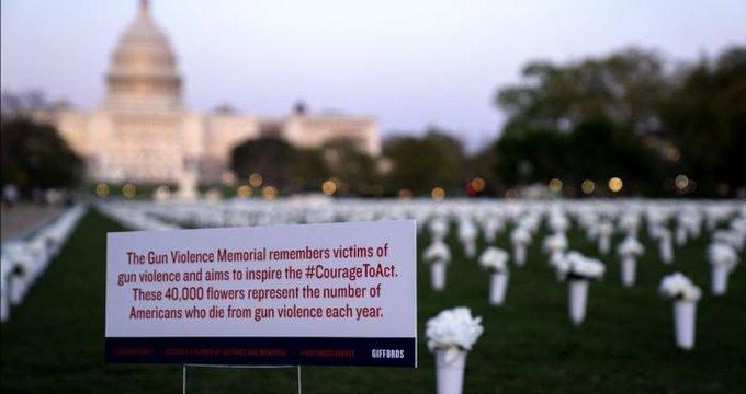 Rosas para frenar los tiroteos en Estados Unidos