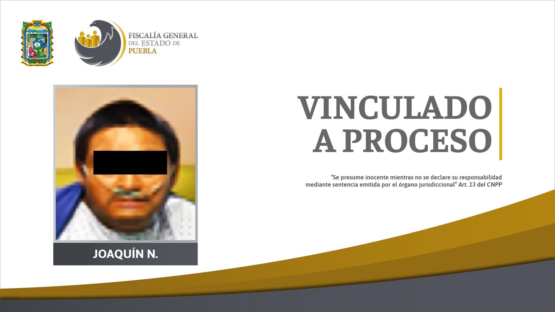 Por robarle un arma y matar a policía en Huejotzingo vinculan a proceso a Joaquín