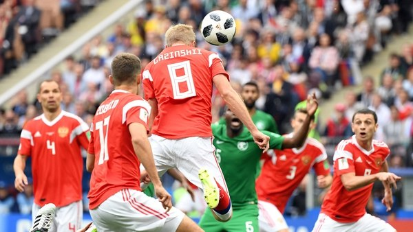 Rusia pasa 5-0 sobre Arabia Saudí en inauguración del Mundial
