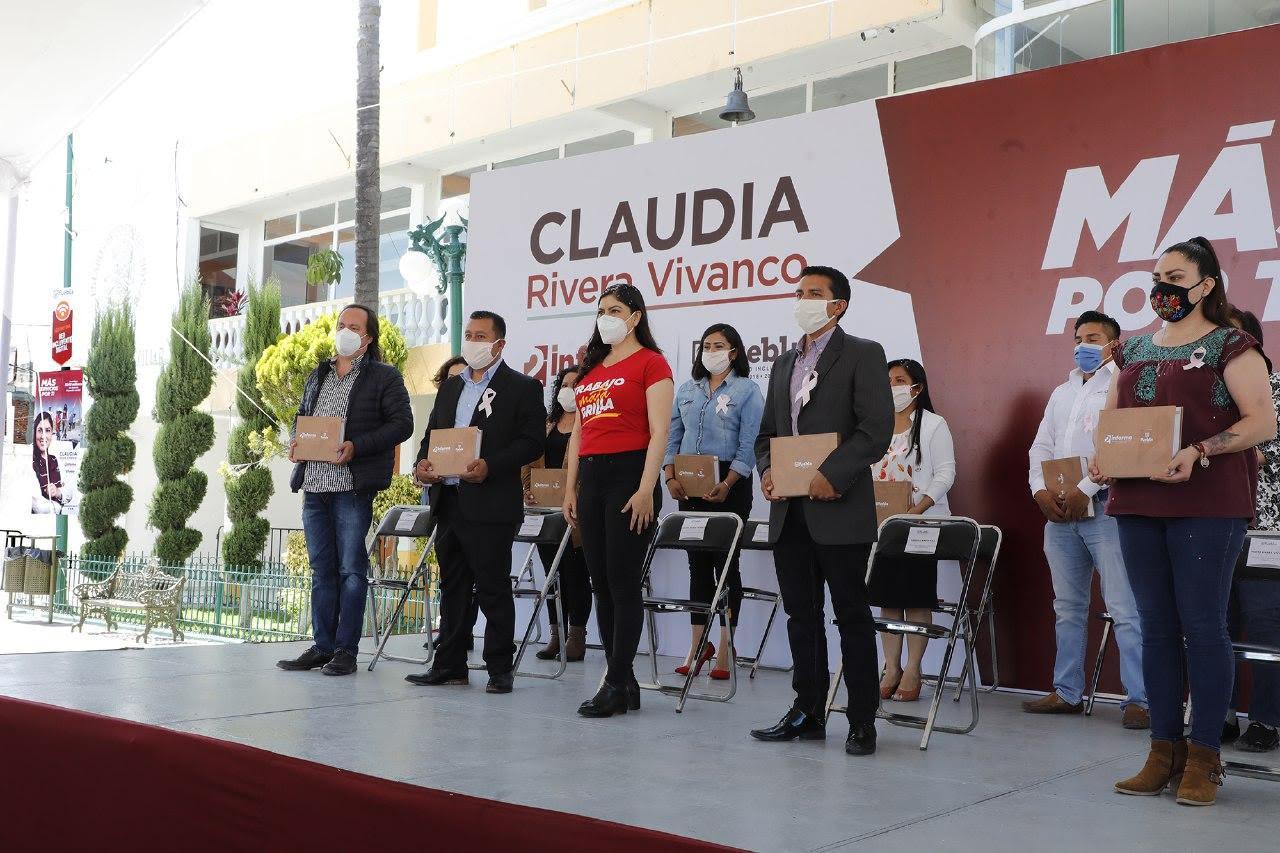Claudia Rivera concluye informes de trabajo en las 17 Juntas Auxiliares