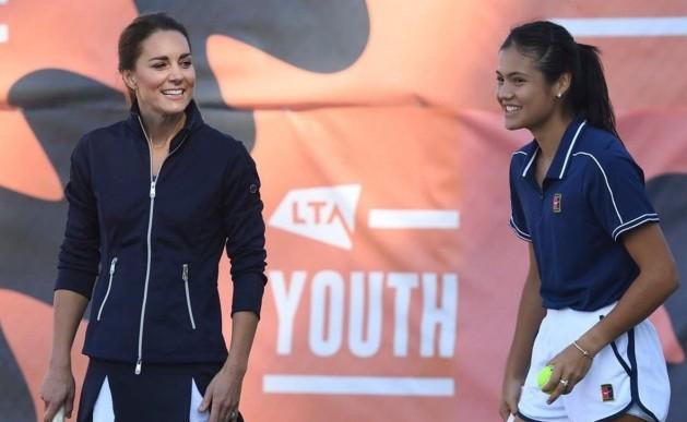 Kate Middleton celebró a los nuevos campeones de tenis británicos