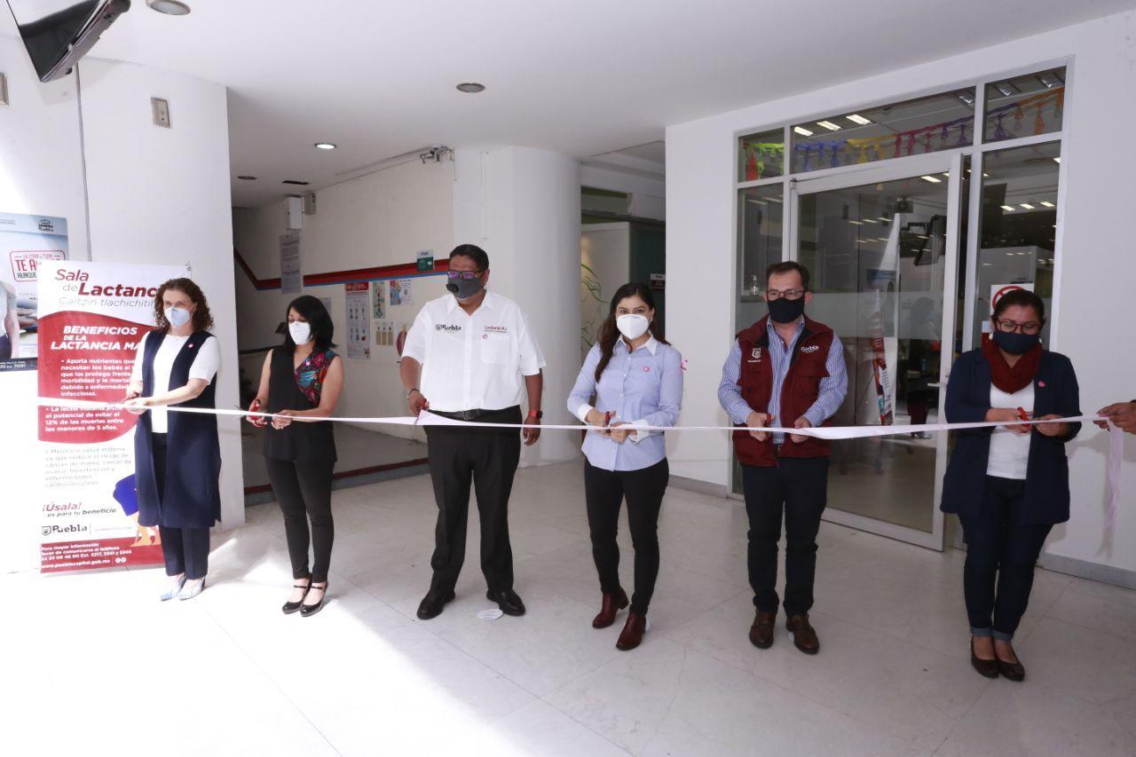 Ayuntamiento de Puebla reinaugura Sala de lactancia en Reforma 126