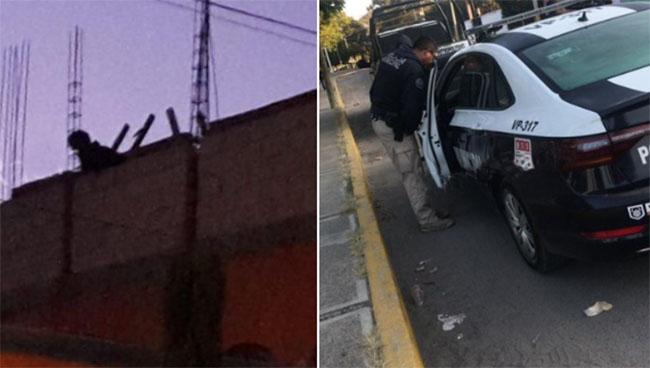 Sorprenden a ladrón y se esconde en azotea; policía de Puebla lo rescata