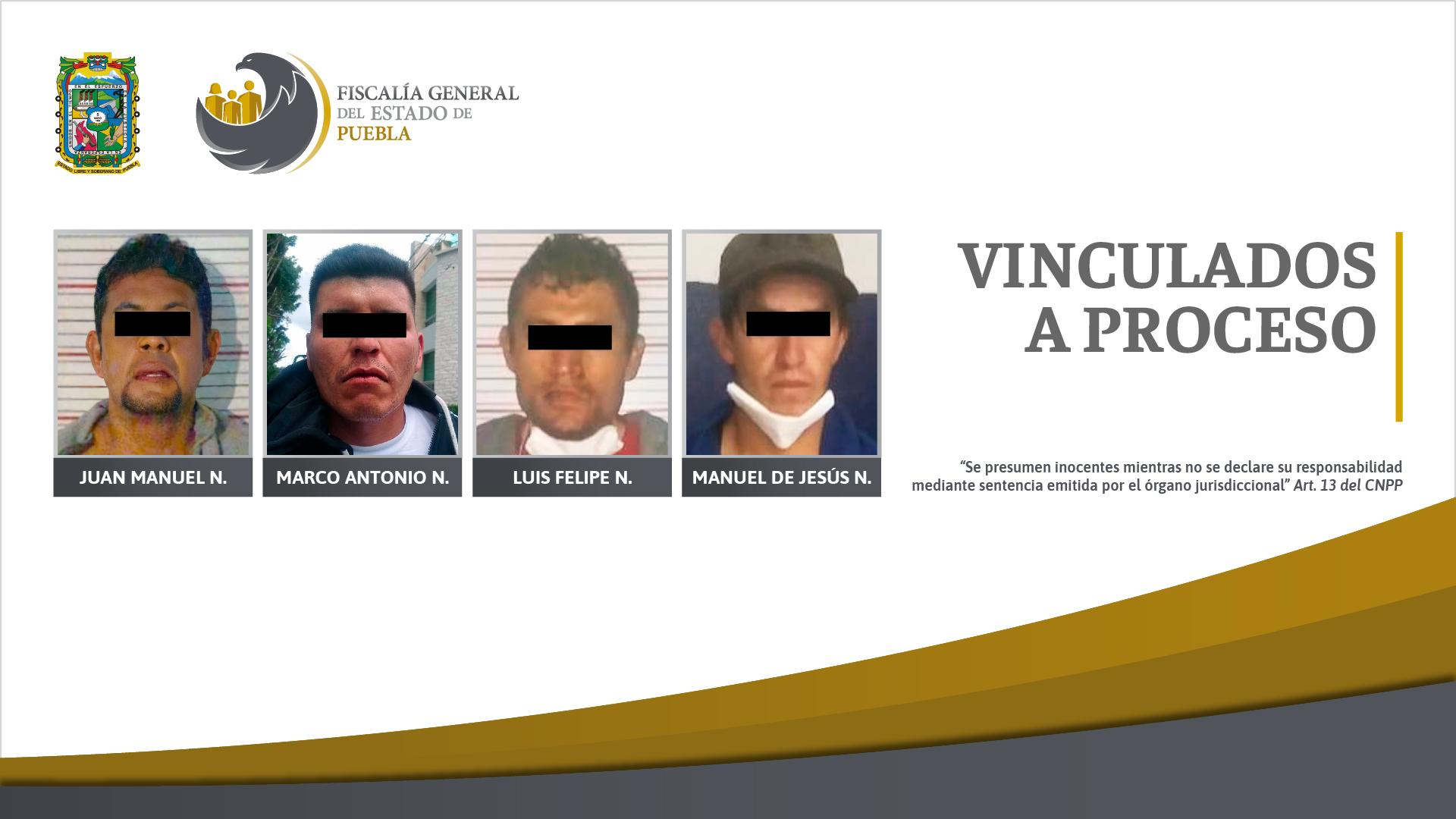 Fiscalía obtiene vinculación a proceso para 4 sujetos por robo en Puebla