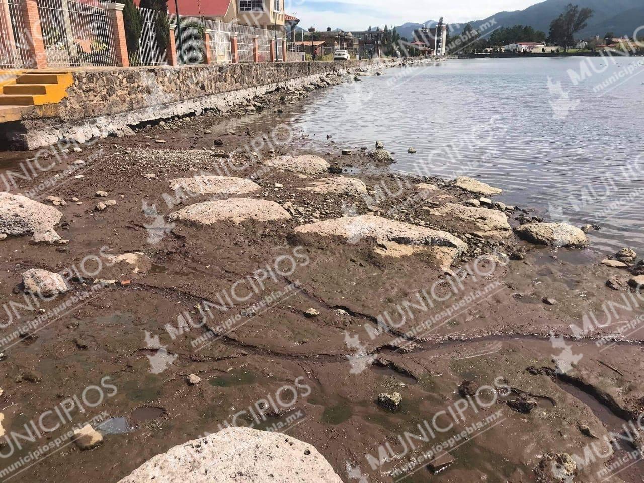 Laguna de Chignahuapan se queda sin agua; podría ser por un descuido