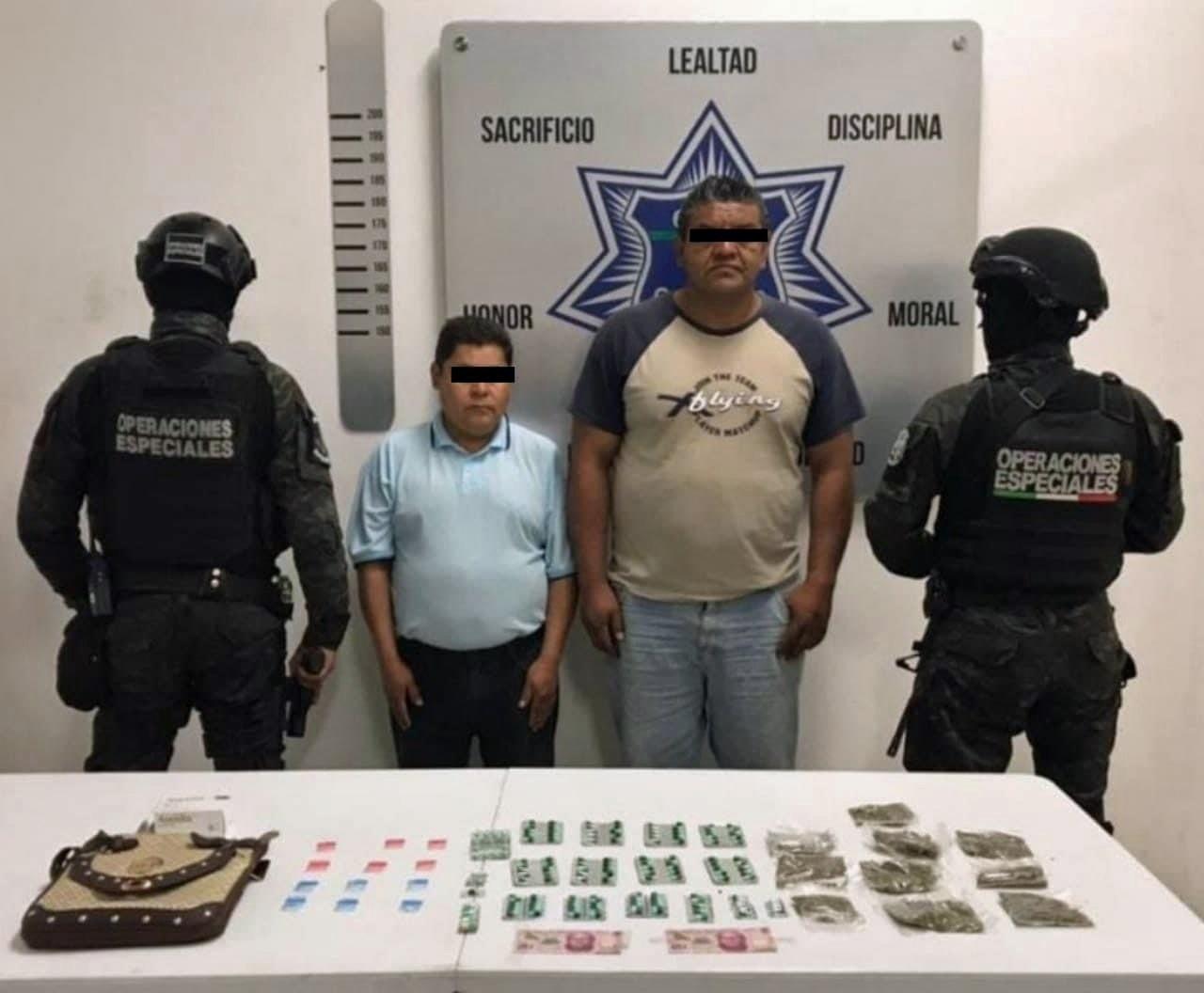 Los detienen con estupefacientes en lateral de la México-Puebla