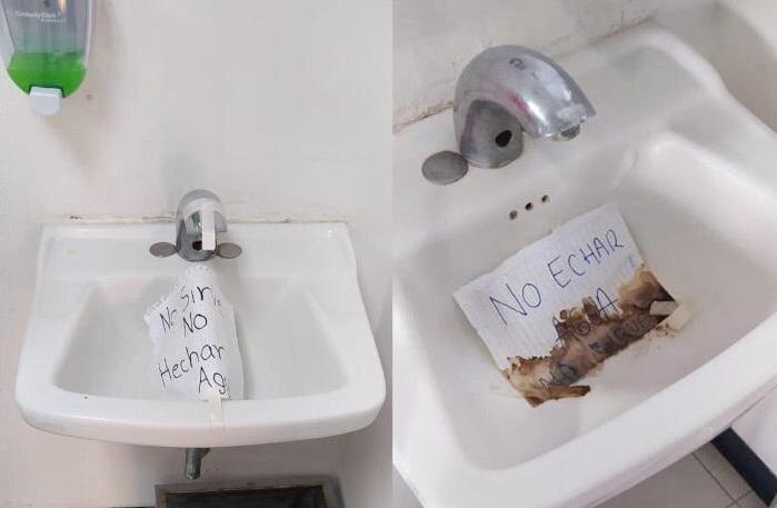 Piden limpieza y lavamanos del Complejo Médico de Atlixco son inservibles