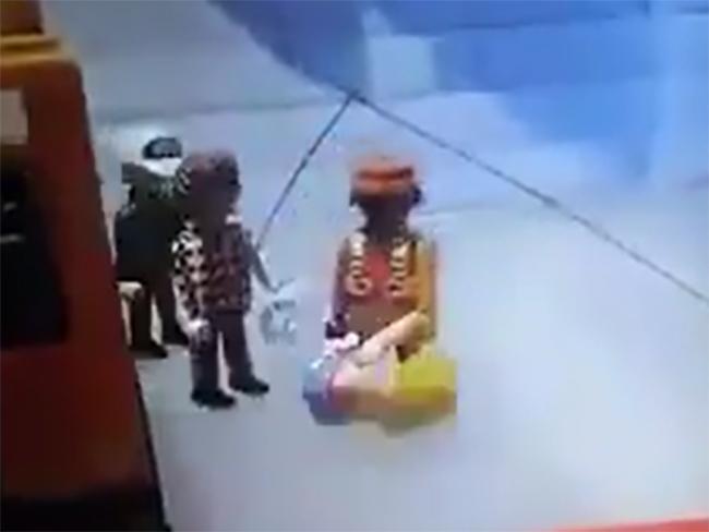 VIDEO Con Legos recrean golpiza a asaltante en el Estado de México