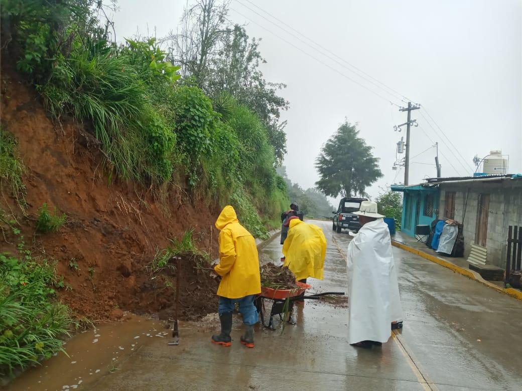 Actúa Protección Civil estatal ante lluvias en ocho municipios poblanos