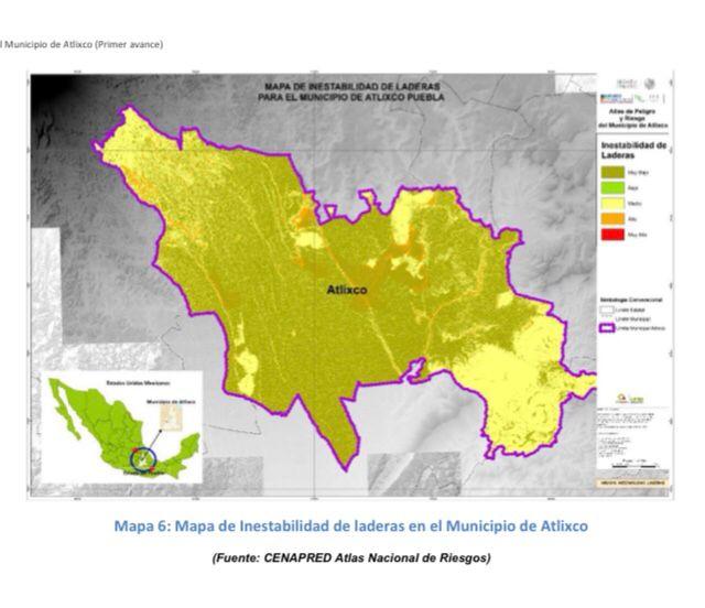 Crece riesgo de inundaciones en Atlixco