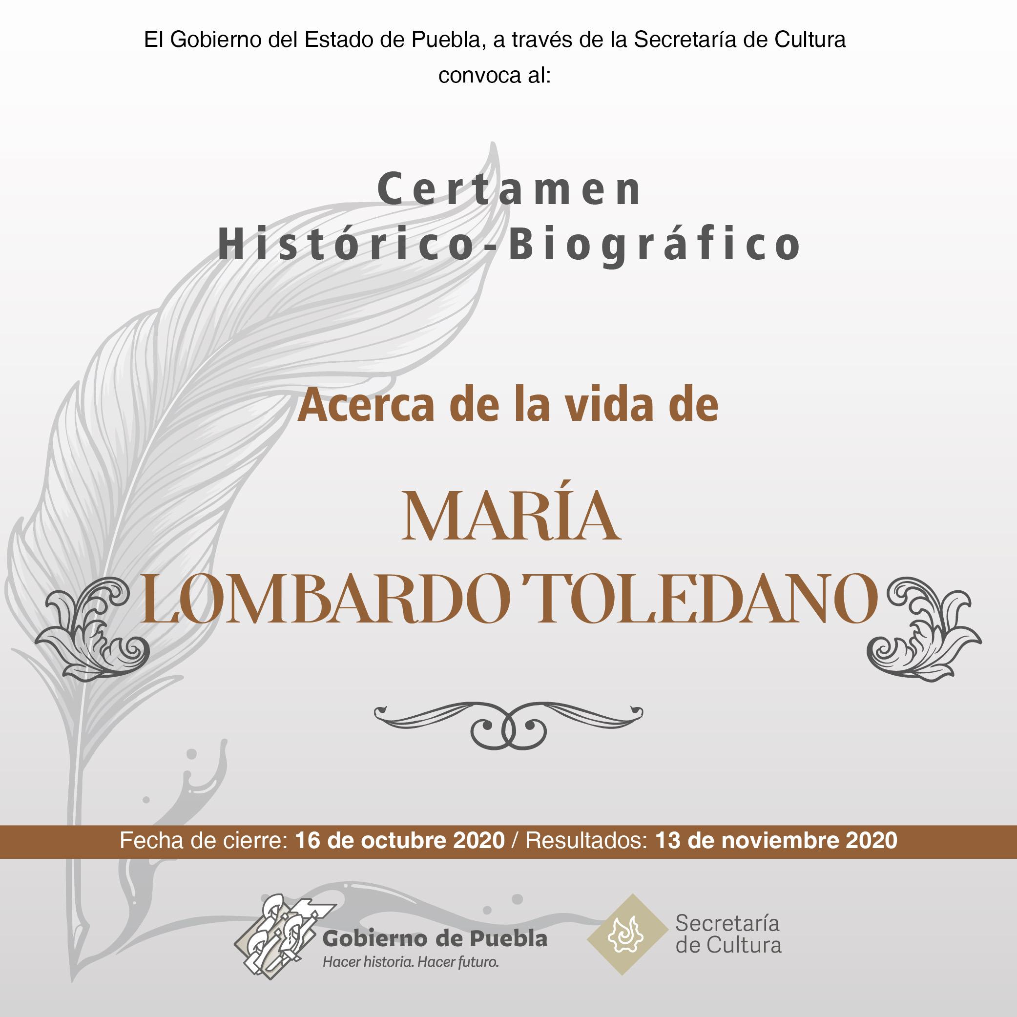 Lanza Secretaría de Cultura de Puebla certamen sobre hechos histórico-biográficos