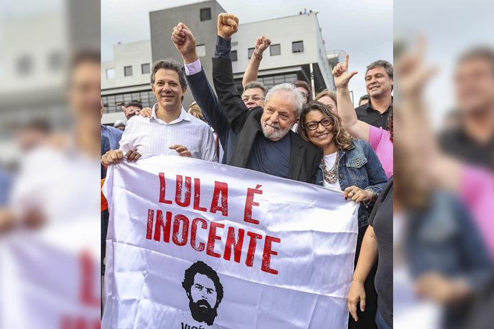 Queda en libertad Lula da Silva, tras 19 meses en la cárcel