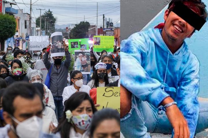 Durante marcha, familiares de Aldo piden detener asesinato de jóvenes