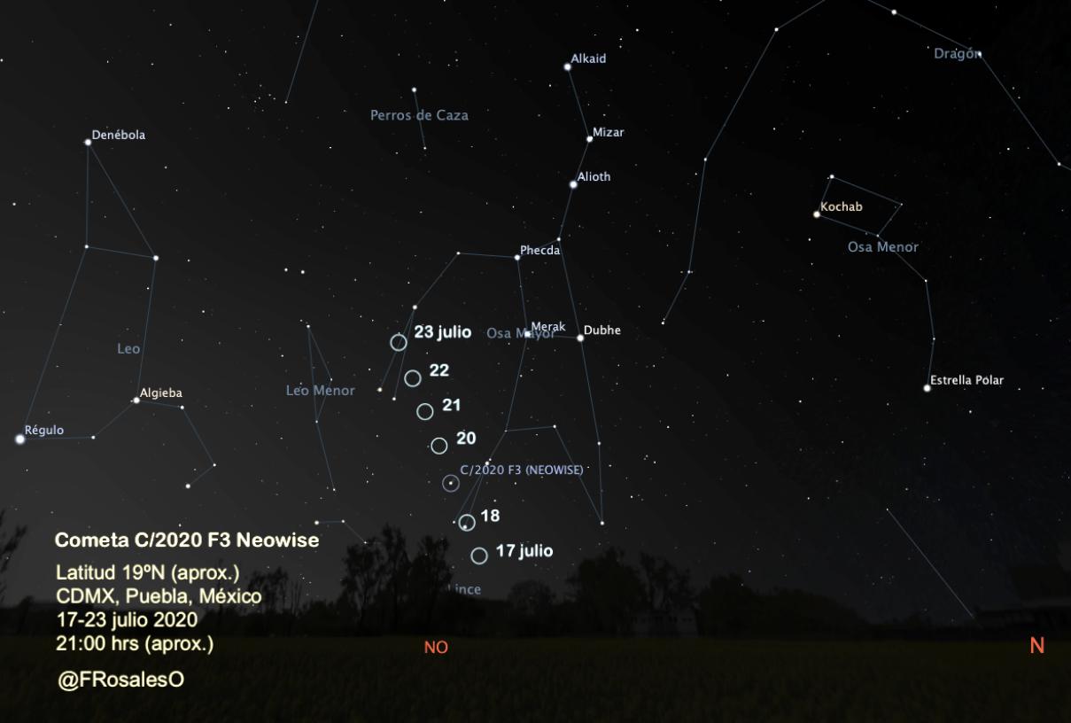 Hasta esta semana será posible ver el cometa NEOWISE