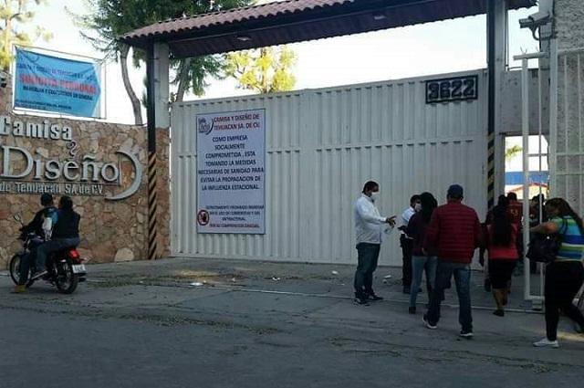 Empresa maquiladora en Tehuacán suspende actividades por Covid 19