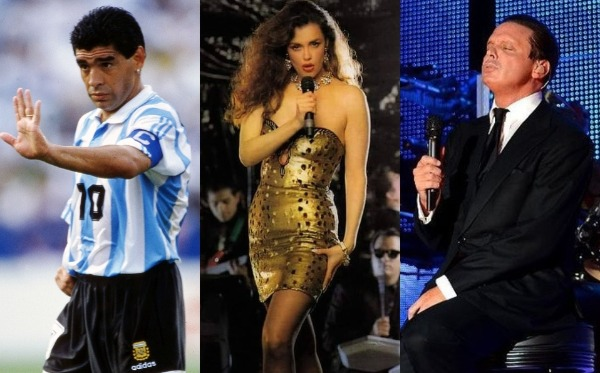 Maradona intentó robarse a Lucía Méndez, pero era novia de Luis Miguel