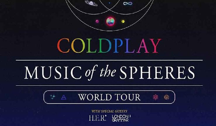 Coldplay hará una gira mundial en 2022