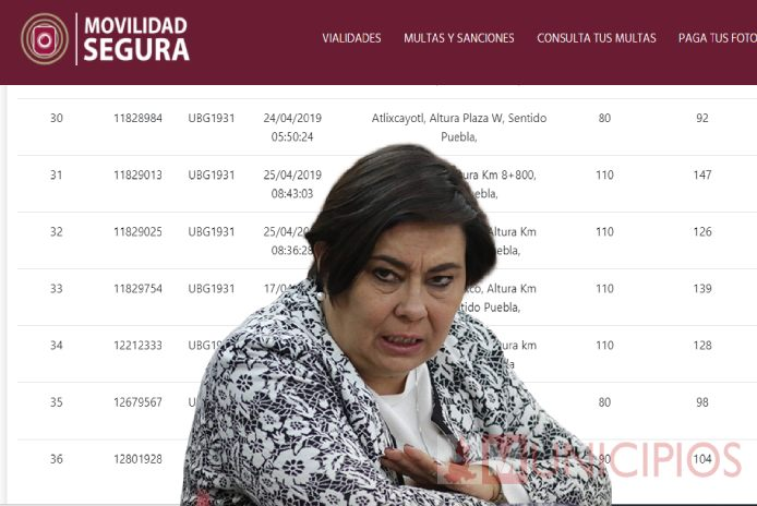 Rosales Martínez, titular de la SSC acumula 27 fotomultas por exceso de velocidad