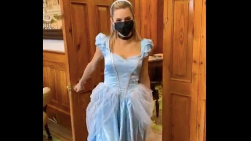 VIDEO Una princesa en palacio: esposa de Samuel García se disfraza de Cenicienta