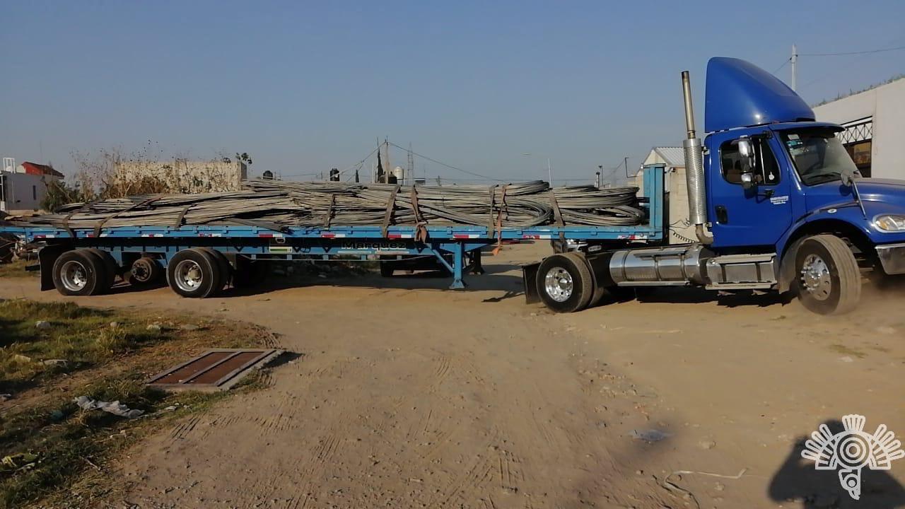 Recuperan 20 toneladas de material para construcción en Aparicio