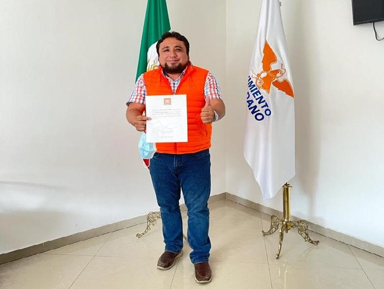 Movimiento Ciudadano postula a antorchista en Huauchinango