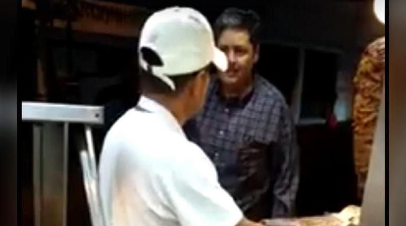 Lord Tacos, el presunto diputado que agredió a un taquero